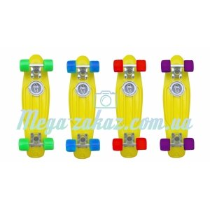 Скейтборд/скейт Penny Board (Пенни борд) Fish: Yellow Collection