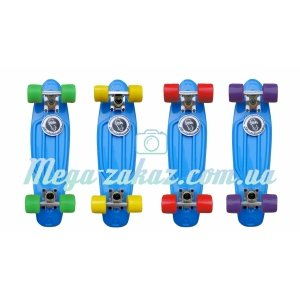 Скейтборд/скейт Penny Board (Пенни борд) Fish: Blue Collection